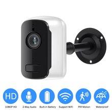 Akumulator IP kamera Wifi 1080P HD zewnętrzna wewnętrzna bezprzewodowa kamera monitorująca dwukierunkowy czujnik PIR szeroki