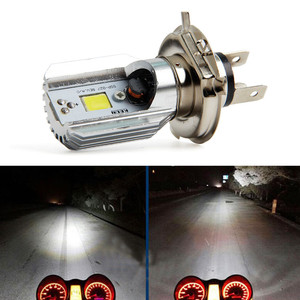 H4 8 W Led Motorcycle Headlight Bulbs Cob Led 12-36v 1000lm COB custom import light source Suitable for all Motorcycle Dropship(China)