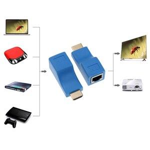 Image 3 - Nieuwste HDMI Extender 4k RJ45 Poorten LAN Netwerk HDMI Uitbreiding Tot 30m Over CAT5e/6 UTP LAN Ethernet Kabel Voor HDTV HDPC