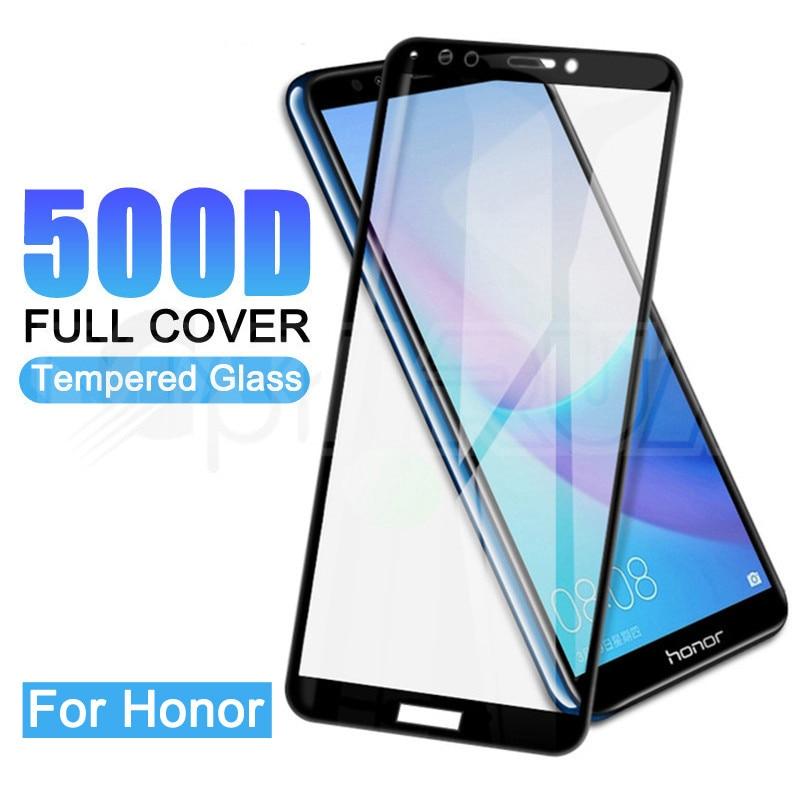 500D verre de protection sur le pour Huawei Honor 7A 7C 7X 7S 8X 8A 8C 8S 9X 8 Lite trempé protecteur d'écran verre sécurité Film étui