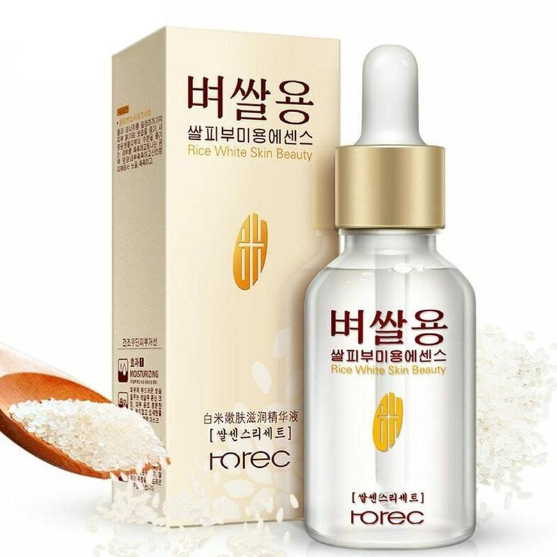15ml Face Serum White Rice Skin Beauty Serum Skin Care Moisturizing Whitening Advanced Facial