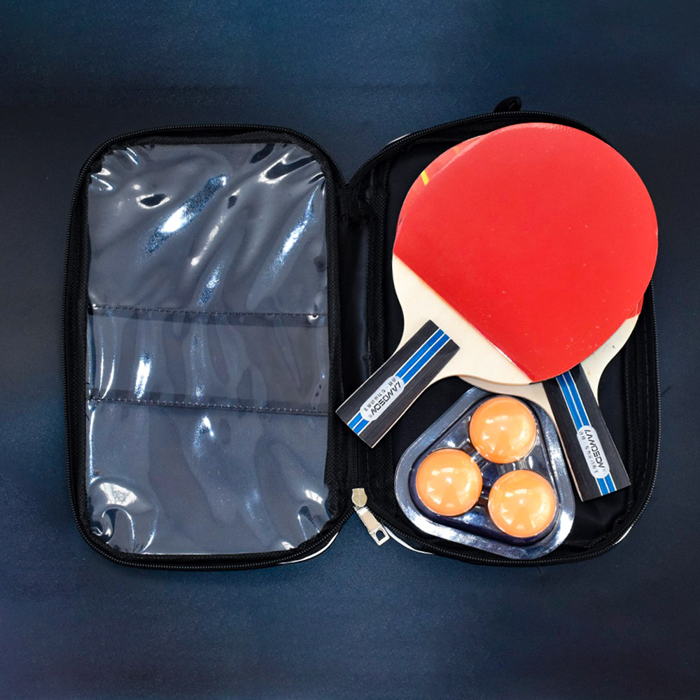 Landson A Pair Of Pure Wood Pimples In Ping Pong Racket All-round Methods Table Tennis Racket  Ping Pong Set