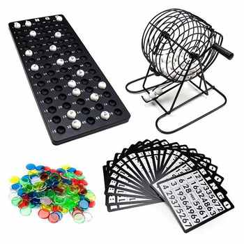75 Balls-Lottery Machine Draw Party Bingo Game Lucky Balls Loteria/Loterie Juego De