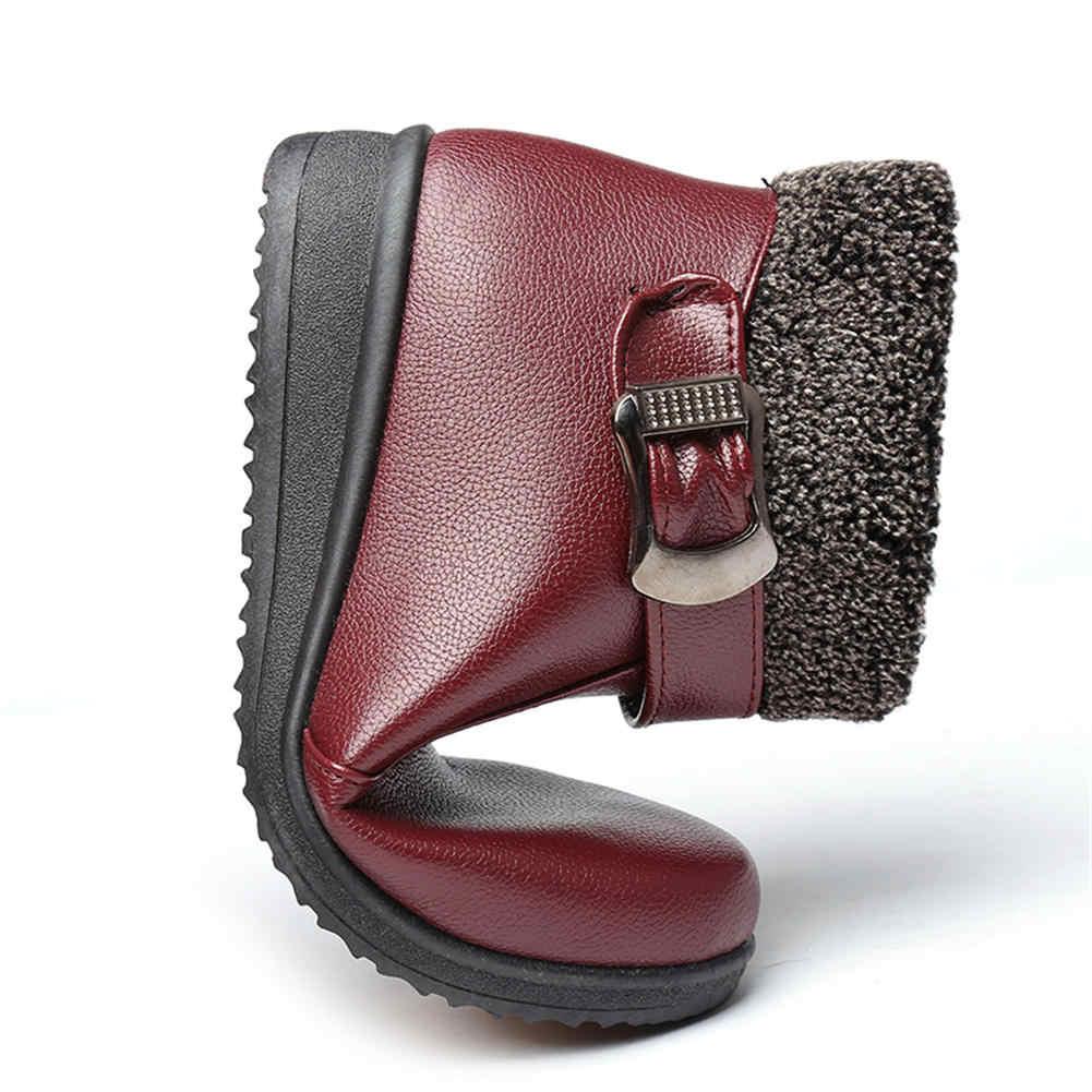 Karinluna 2019 büyük boy 41 dropship kış sıcak kar botları ayakkabı kadın su geçirmez yarım çizmeler kadın çizmeler kadın ayakkabıları