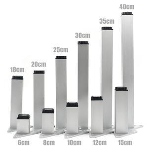 Image 1 - 4 ピース/セット 6 40 センチメートルアルミ金属家具脚キャビネット足テーブル用のネジで調整可能なトライアングルベーステーブルソファベッドキャビネット