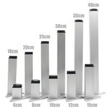 4 adet/takım 6 40cm alüminyum metal mobilya ayakları dolap ayakları masa ayarlanabilir üçgen taban için vidalar ile masa çekyat dolap