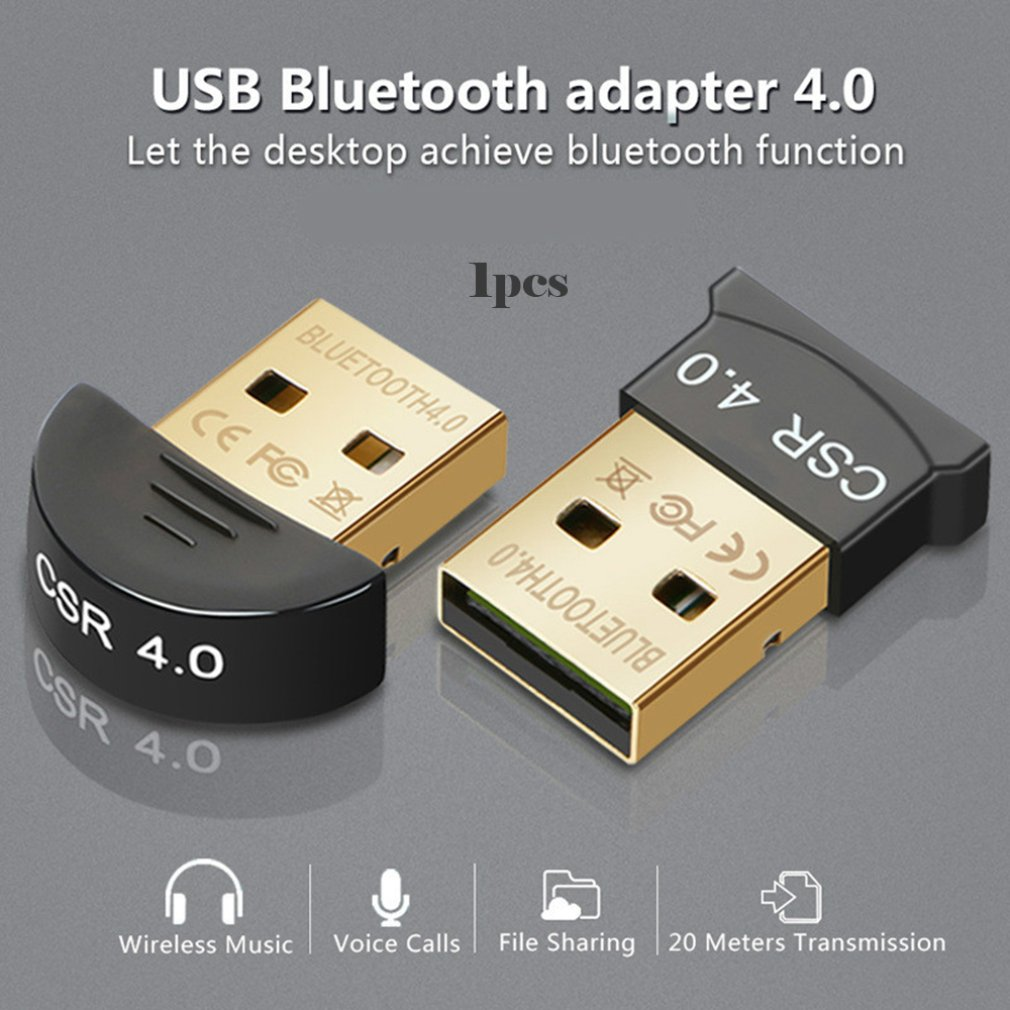 USB <font><b>Bluetooth</b></font> Dongle Adapter <font><b>4.0</b></font> for PC Computer Speaker Wireless Mouse <font><b>Bluetooth</b></font> Music Audio <font><b>Receiver</b></font> Transmitter aptx image