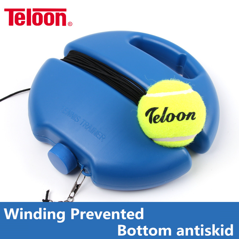 Teloon Tennis Training Tool Exercise Ball Sport Self-study Rebound Balsl With Tennis Trainer Baseboard Sparring Device K020SPA