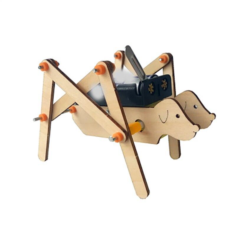 Crianças Artes E Ofícios do Ofício Dos Miúdos Conjunto de Brinquedos Para Crianças Do Jardim de Infância Das Crianças Diy Modelo Material De Madeira Criança Diy Robô Cão brinquedo do menino