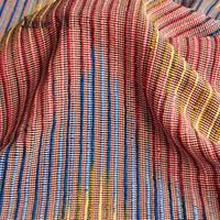 JaneYU 2019 New Arrival Colour Striped Woolen Yarn Fabric Skirt Clothing Fabric Handicraft Material Fabric