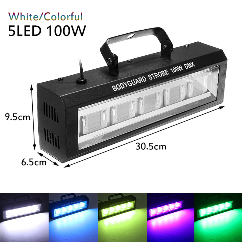 100W LED Stage Lighting Effect DMX512 Voice Activated AC90 240V US Plug Commercial Lighting for Christmas Home KTV Show
