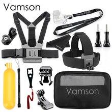 Vamson per Go pro Hero 7/6/5 Nero Testa Petto set di Accessori per Xiaomi yi4K per DJI OSMO Action kit di accessori per Sony VS24