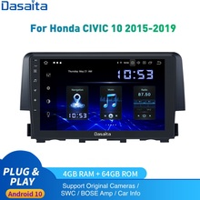 Android 10.0 Autoradio 1 Din Per Honda Civic Multimedia 2015 - 2019 Autoradio DSP HD IPS 1280*740 carplay 4Gb + 64Gb HDMI Uscita