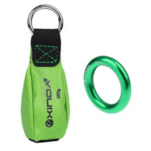 8.8oz Tree Climber Arborist Green Throw Weight + 22KN/ 4850lbs Aluminum Alloy Rappel Ring Tree Rigging Belay Equipment(China)