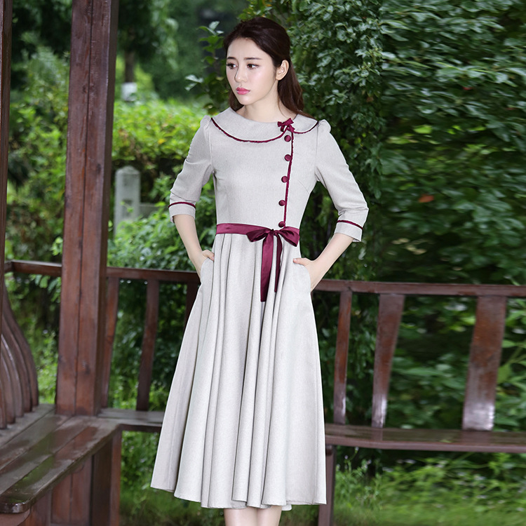 Victoria French Non-mainstream Skirt Spring Literature And Art Students Western Style Hipster Dress Graduation Business Attire G