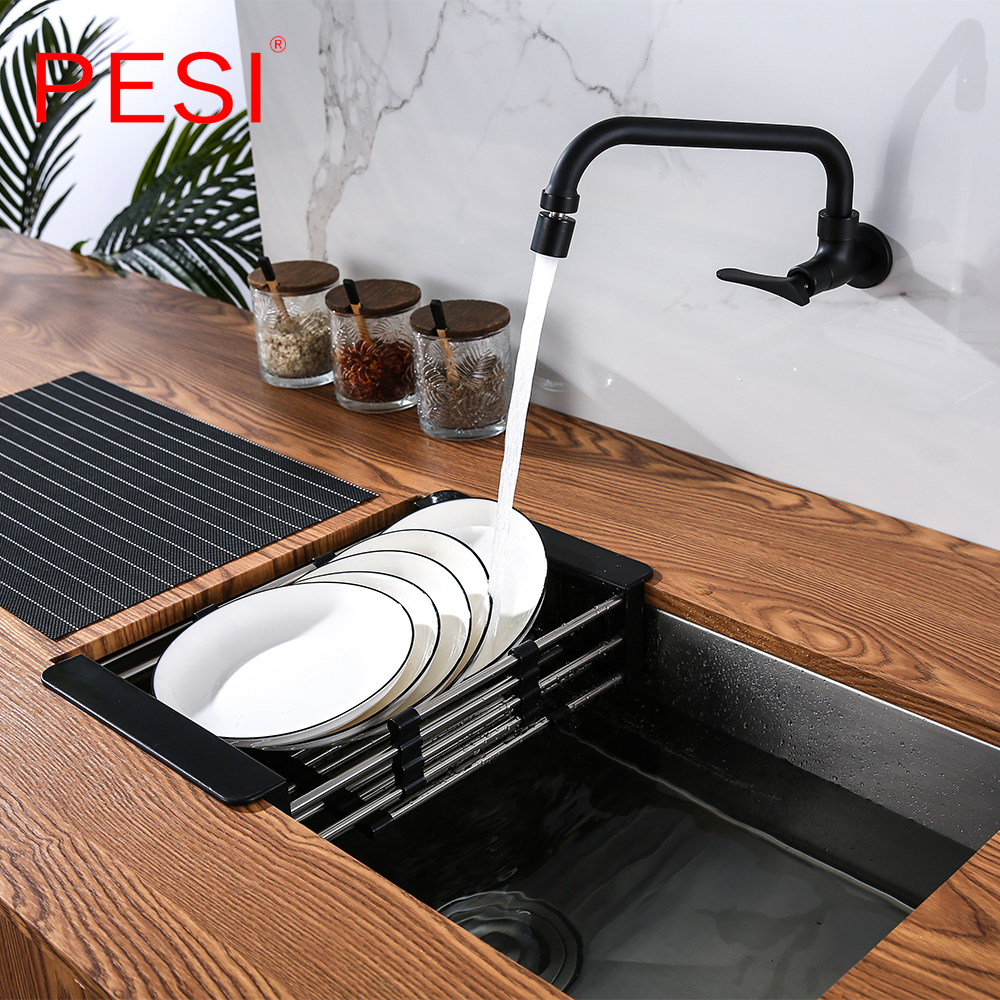 Kitchen Sink Drain Rack Creative Silica Gel Drainage Rack Tableware Drying Stainless Steel Tube Holder Foldable Flume Fittings