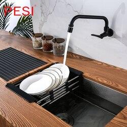 Kitchen Sink Drain Rack Creative Silica Gel Drainage Rack Tableware Drying Stainless Steel Tube Holder Foldable Flume Fittings