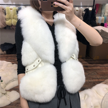 ZDFURS*Women Natural Real Fox Fur Vest  Winter Ladies Gilet Sleeveless Genuine Coat Female Waistcoat