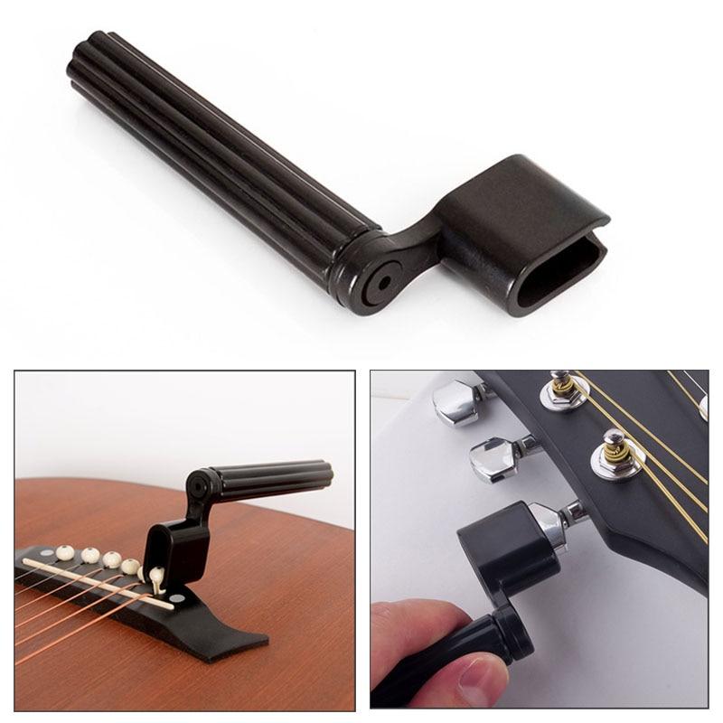 2 In 1 Guitar String Winder Bridge Pin Remove Peg Puller Bass Guitar Repair Maintenance Tool Guitar Accessories Luthier Tool
