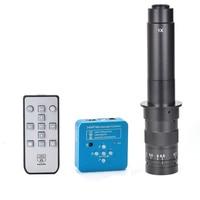 FHD 34MP USB Industrielle Elektronische Digital Video Mikroskop Kamera 130X 180X 300X C Mount Objektiv Für Telefon PCB Löten 6 arten-in Mikroskope aus Werkzeug bei