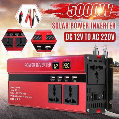 5000 w dc 12 v para ac 220 v inversor solar display led inversor de