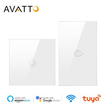 AVATTO Wifi Boiler Switch Smart Water Heater Switch Tuya Smart Life Timer Voice Control EU/US Touch Panel With alexa Google home image