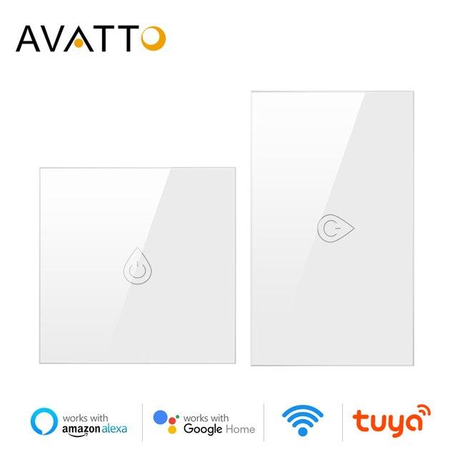 AVATTO Wifi المرجل التبديل الذكية سخان المياه التبديل تويا الحياة الذكية الموقت التحكم الصوتي الاتحاد الأوروبي/الولايات المتحدة لوحة اللمس مع أليكسا جوجل المنزل