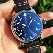 44mm Pilot not have logo Mechanical Hand Wind Men's Watch bl