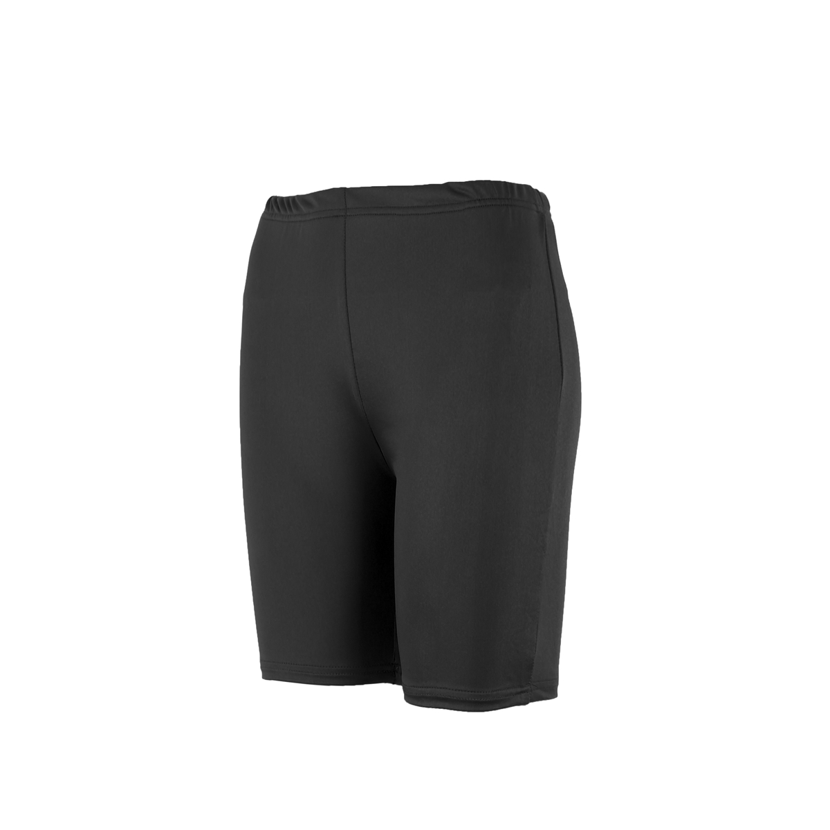 Women Solid Elastic Compression Yoga Shorts High Waist Tights Bottom