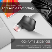 High QualityT1 Support AptX ACC TWS 5.0 Binaural Wireless Bluetooth Earphone Fingerprint Touches Ergonomical Earphone