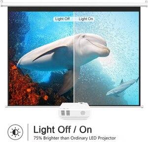 Image 3 - قوية Q5 جهاز عرض صغير 2600 لومينز 800*600 ديسيبل متوحد الخواص دعم 720P LED المحمولة السينما المنزلية أندرويد اللاسلكية مزامنة عرض للهاتف