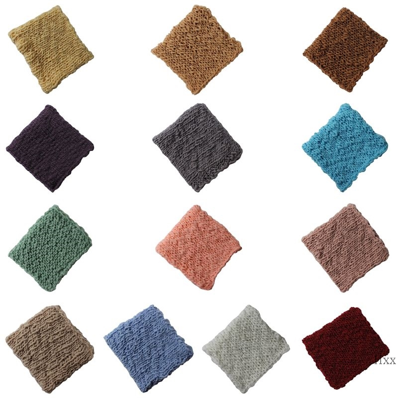 New Baby Photography Blanket Props Faux Wool Crochet  Photo Shoot Background Rug