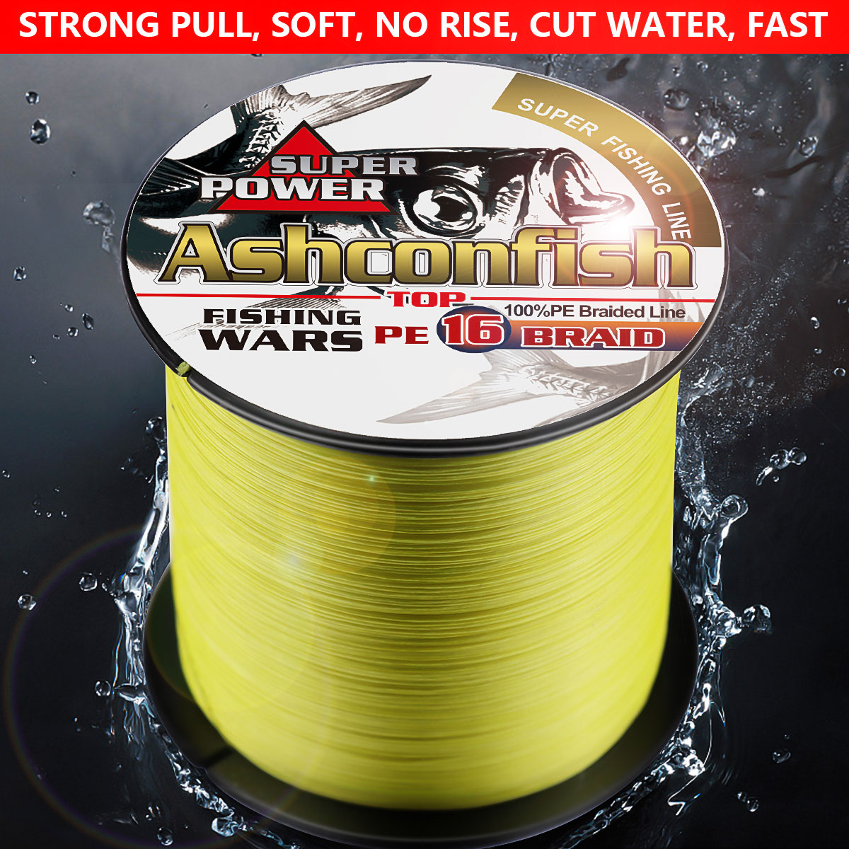 16 Strands super strong braided fishing line pe hollowcore 1500M wire carp fishing saltwater 20 30 60 130 150 200 300 400 500LBS - 6