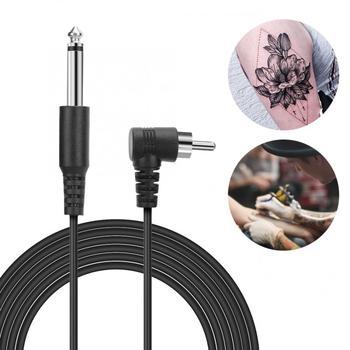 Maszynka do makijażu permanentnego hak uchwyt na kabel przewód zasilający urządzenie do tatuażu akcesoria RCA przewód DC tatuaż połączenie
