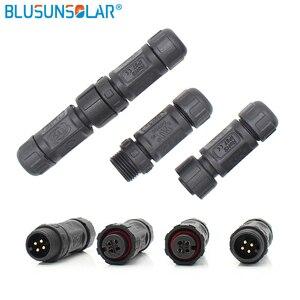 Certyfikat UL 20 pary dużo M12 elektroniczny wodoodporny złącze typu stosowane w LED złącze 2pin, 3pin, 4pin, 5pin, 6pin 7pin 8 pin
