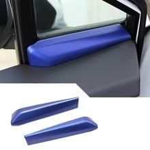 Автомобиль синий 2 шт a-столб пост Внутренняя дверь окна Крышка отделка для Toyota C-HR CHR 2017-2020