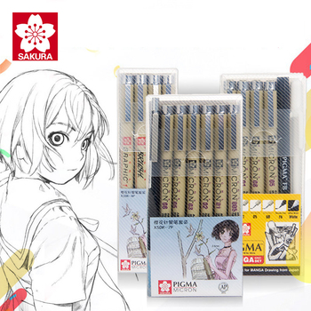 цена на SAKURA Waterproof Needle Pen Cartoon Comic Design Sketch Needle For Drawing Pigma Micron Liner Brush Hook Line Pen Art Supplies