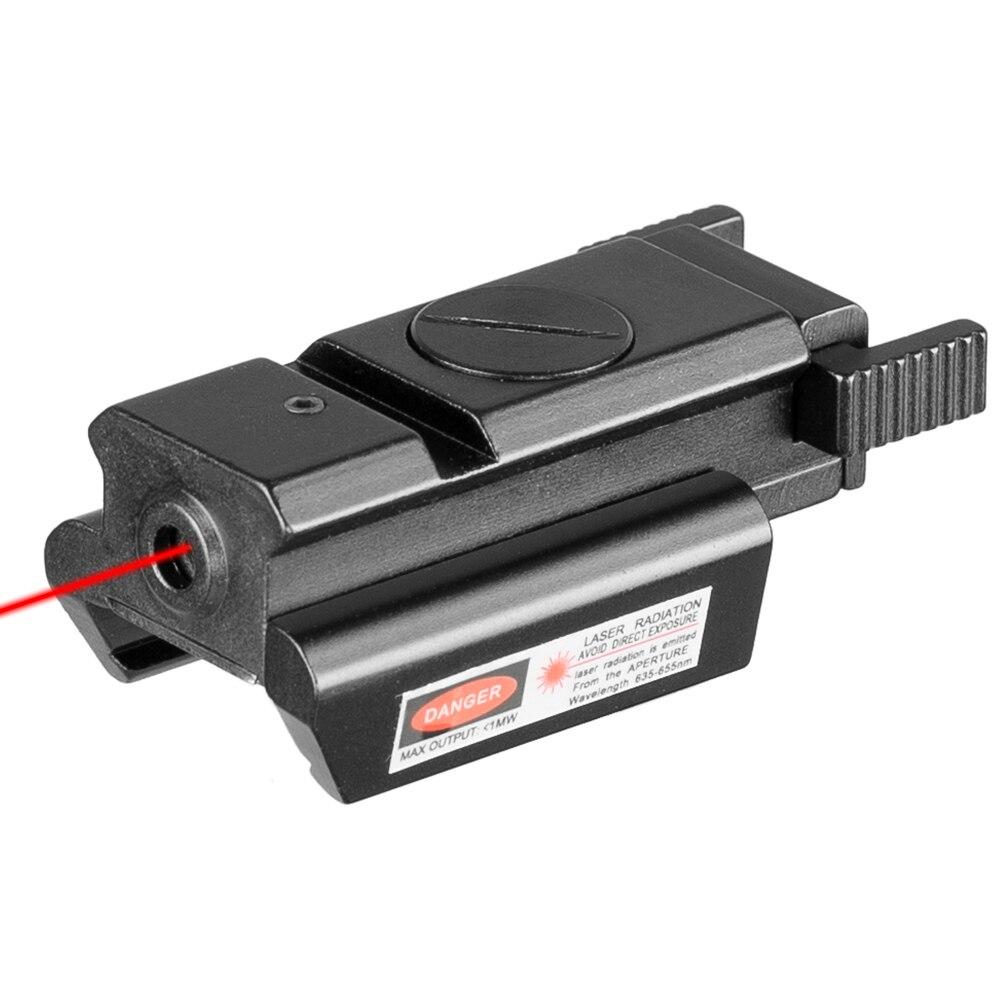 Taktische 532nm Red Dot Laser Anblick Umfang Mit Picatinny Weber-schiene 22mm Montieren Für Glock 17 19 20 21 22 23 30 31 32 Sd Laser