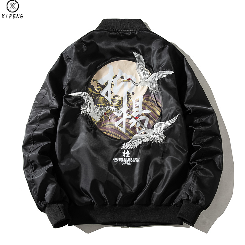 Men Jackets 2020 Embroidery Coat Men Sukajan Yokosuka Souvenir Jacket Fashion Youth Bomber Jackets Streetwear Baseball Uniform