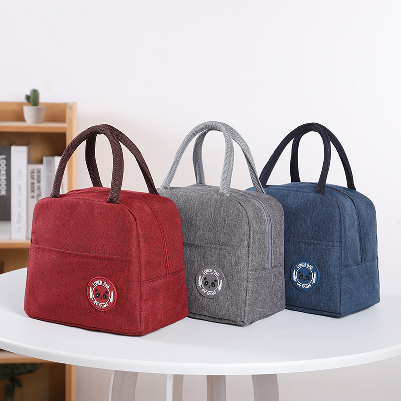 1PCs Fresh Cooler Bags Waterproof Nylon Portable Zipper Thermal Oxford Lunch Bags For Women Convenient Lunch Box Tote Food Bags 2
