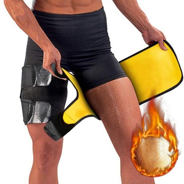 Leg Belt Sweat Thigh Trimmer Sweat Band Leg Slimmer Weight Loss Neoprene Gym Workout Corset Thigh Slimmer Tone Legs Strap Women