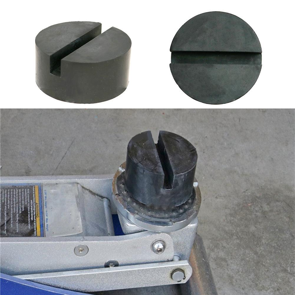 New 75mm Universal Practical  Black Floor Car Rubber Pad Jack Disk Pad Adapter  For Pinch Weld Side Lifting Disk