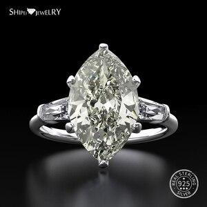 Image 3 - Shipei Natuurlijke Saffier Ring voor Vrouwen Echt 100% Sterling Zilveren Edelsteen Citrien Engagement Wedding Coctail Ring Fijne Sieraden