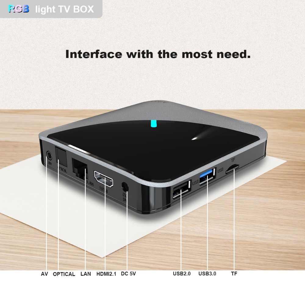 A95XF3 aire RGB luz de la caja de TV Android 9,0 4GB 64GB Amlogic S905X3 caja de 8K HD 2,4/5G Wifi Netflix servidor de medios Android Tv Box