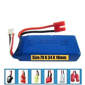 Image 1 - New big battery 2500mAh 2S 7.4V 25C Lipo Battery Helicopter Battery Syma X8 X8W X8G with voltage protection board