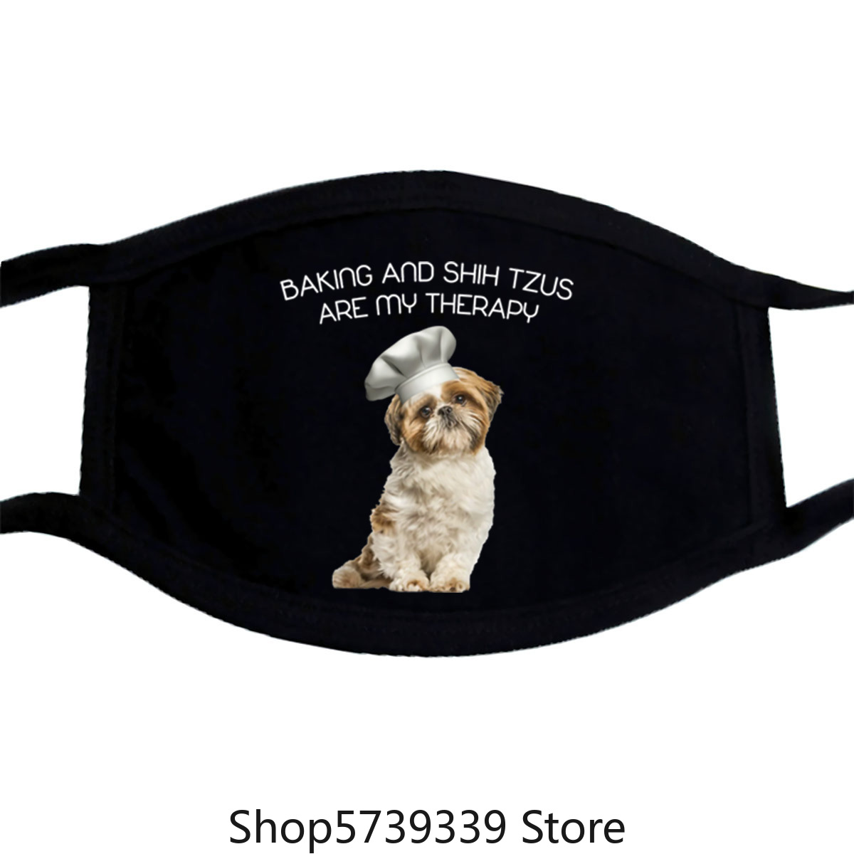 Official Premium Baking And Shih Tzu Are My Therapy Gifts MotherS Day Mask