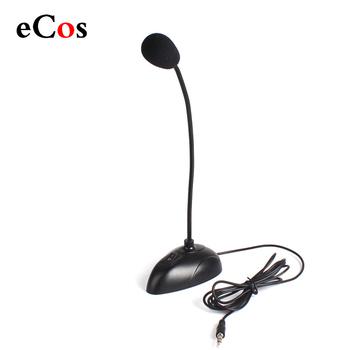 Elastyczny stojak Mini Studio mikrofon mowy 3 5mm wtyczka mikrofon typu #8222 gęsiej szyi #8221 przewodowy mikrofon do komputera do komputera stacjonarnego lub notebooka #21230 tanie i dobre opinie BuyinCoins Mikrofon na gęsiej szyi Mikrofon pojemnościowy Mikrofon komputerowy Pojedyncze Mikrofon CN (pochodzenie) China (Mainland)