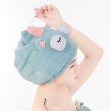 Cute Bath Towel Dry Hair Hat Shower Cap Strong Absorbent Quick-drying Long-Velvet Ultra-Soft Lady Protection soft