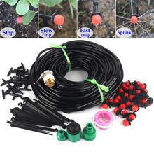 NNW 40M DIY Drip Irrigation System Automatic Watering System Garden Hose Micro Drip Garden Watering Kits Adjustable Drippers