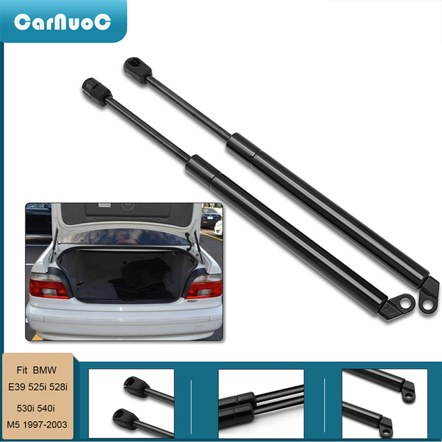 2 Pcs Car Tailgate Gas Struts Lift Spring Shock Gas Struts Arm for BMW E39 525i 528i 530i 540i M5 1997 2003 Auto Accessories